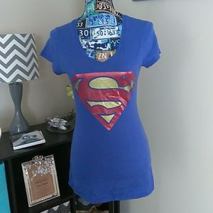 Superman Short Sleeved Tee Size Large